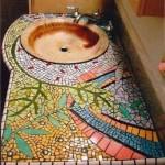 Mosaique à intégrer au mobilier