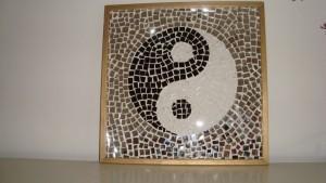 Mosaïque yin yang, à déposer au sol ou sur les murs