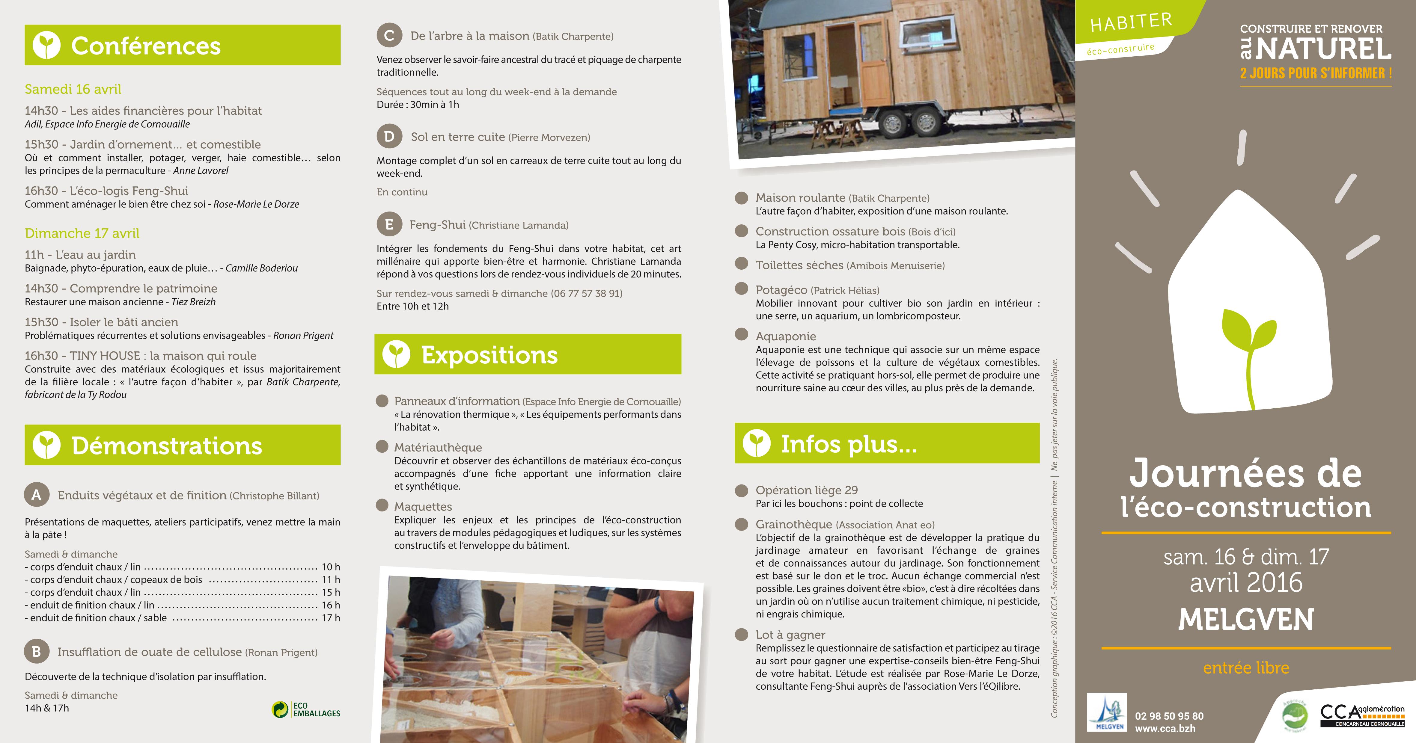 Du feng shui au salon eco construction melgven 29 16 et for Salon eco habitat
